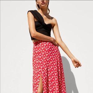 New Zara one shoulder crop top